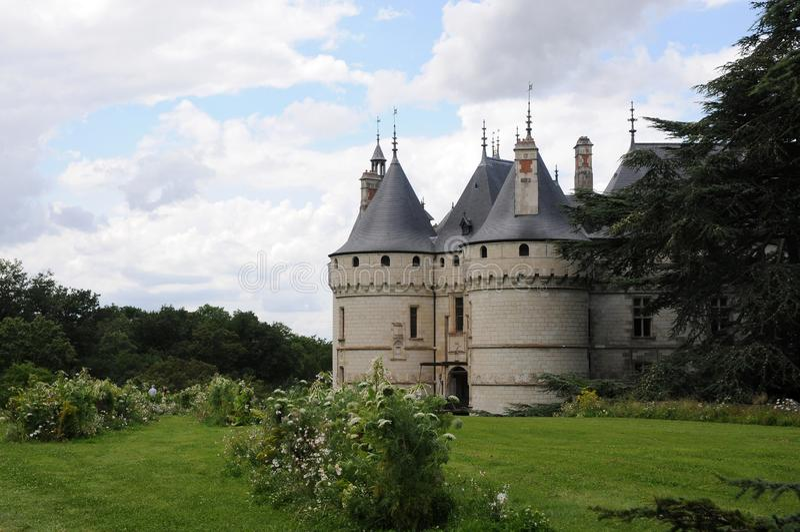 The royal chateau de Chaumont, Loire royalty free stock photo