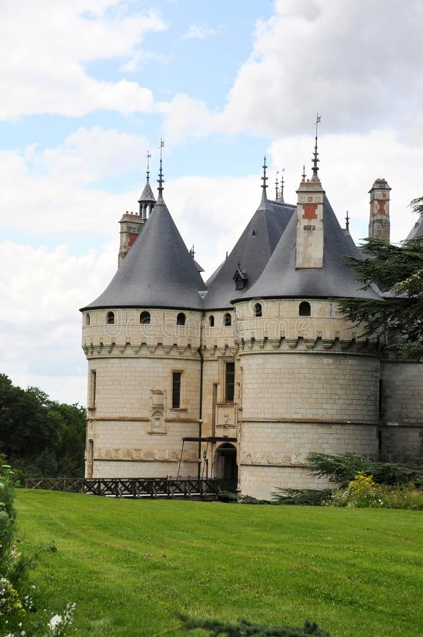 The royal chateau de Chaumont, Loire royalty free stock photography