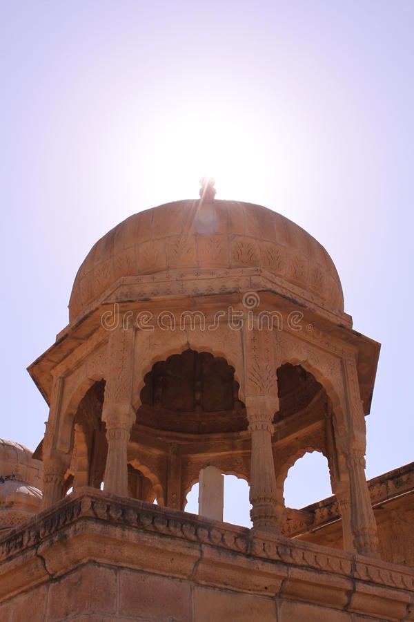Royal Chhatris or cenotaph's of Bada Bagh stock photography