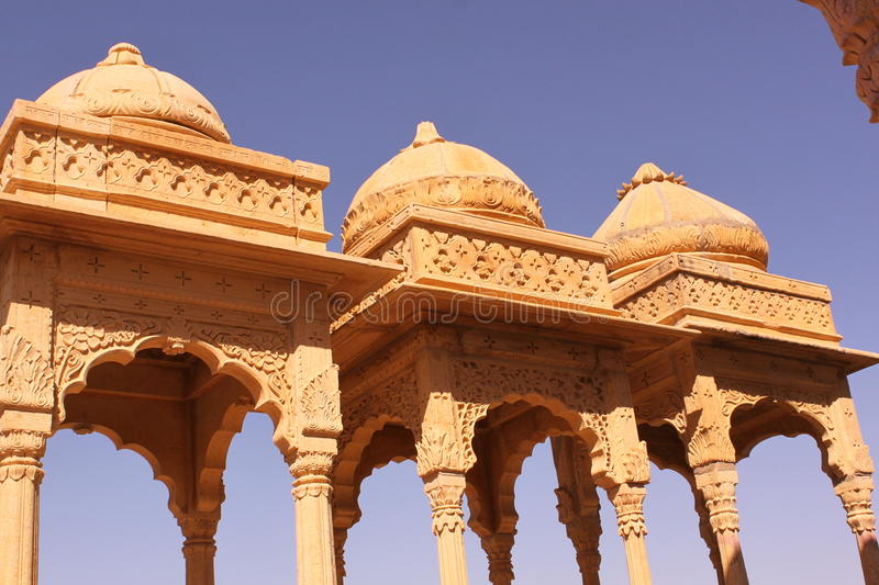 Royal Chhatris or cenotaph's of Bada Bagh royalty free stock images