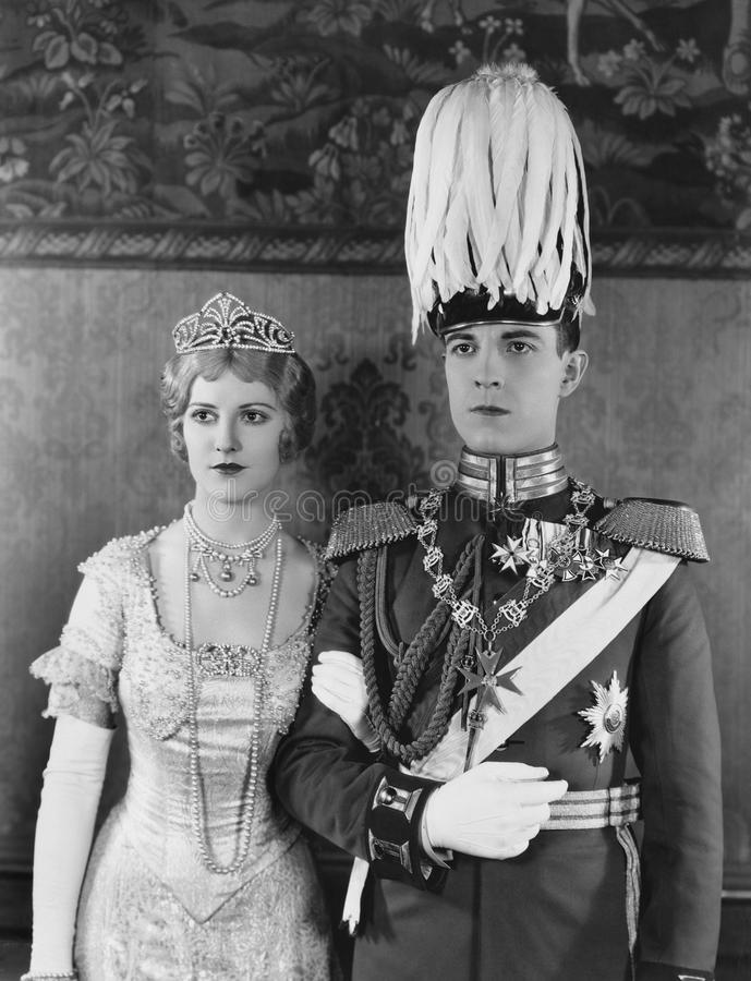 ROYAL COUPLE. (All persons depicted are no longer living and no estate exists. Supplier grants that there will be no model release issues royalty free stock image