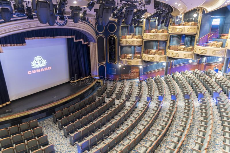 Royal Court Theatre MS Queen Elizabeth. royalty free stock photo