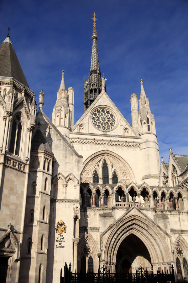 Royal Courts of Justice. The Royal Courts of Justice in The Strand London erected between 1874 and 1882 are England and Wales' highest civil legal law courts stock images
