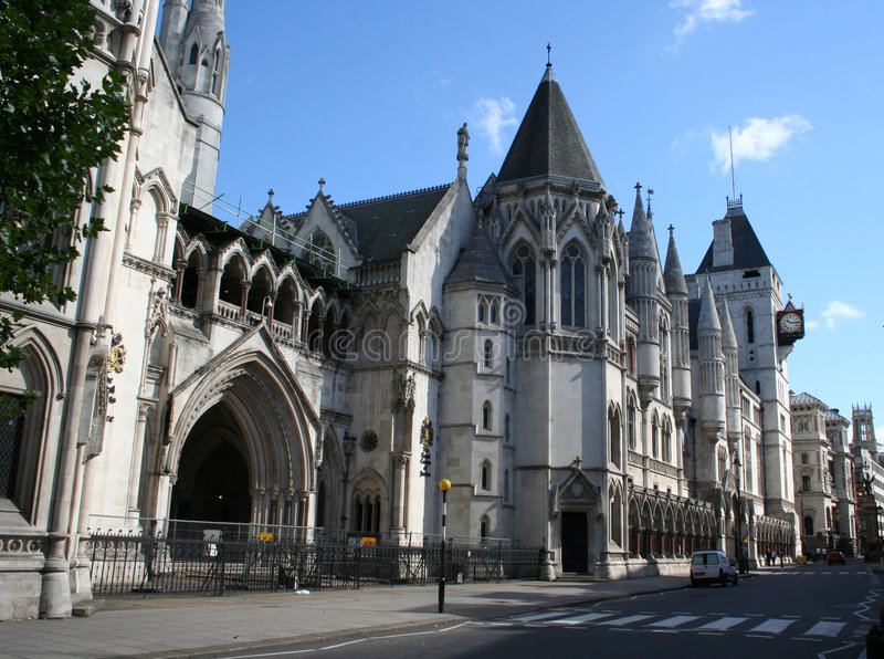 Royal courts of Justice. Strand, London royalty free stock photo