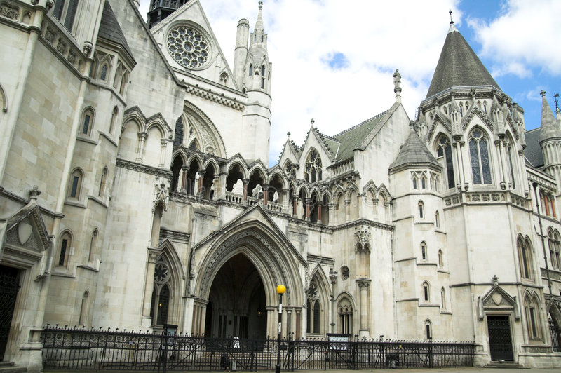 Royal Courts Of Justice. The Royal Courts of Justice erected between 1874 and 1882 are England and Wales's highest civil court royalty free stock image