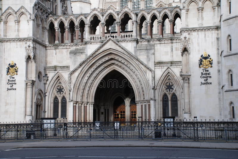 Royal Courts of Justice, London. The Royal Courts of Justice in The Strand, London, england stock photo