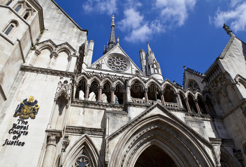 The Royal Courts of Justice in London.  royalty free stock photo