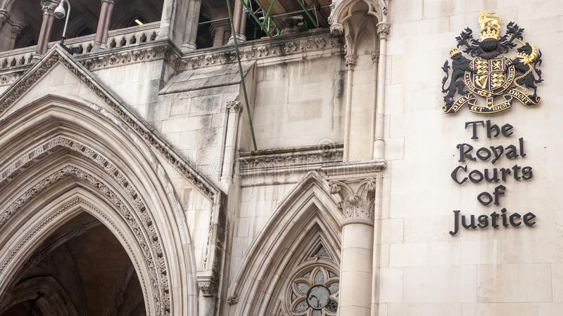 The Royal Courts of Justice, London. Better known simply as The Law Courts, The Royal Courts of Justice houses the High Court and Court of Appeal of England and stock images