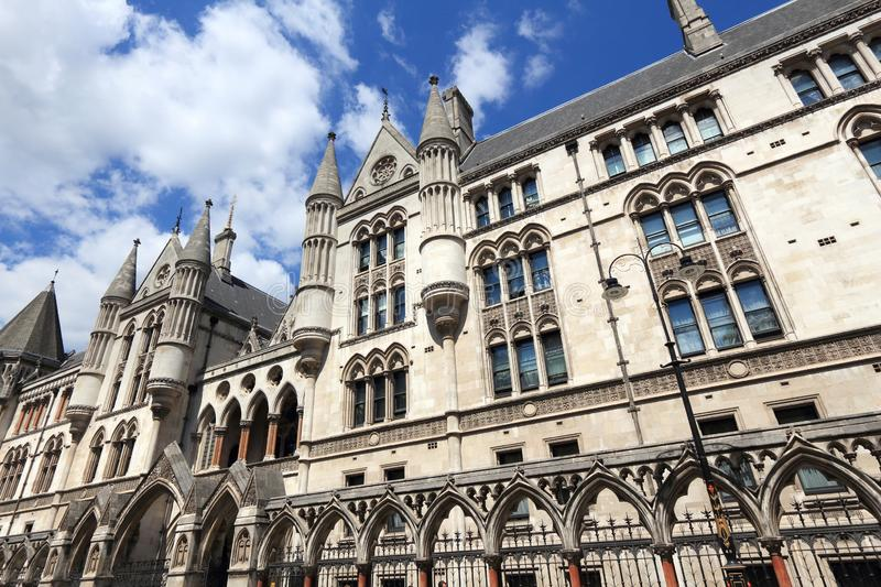 The Royal Courts of Justice royalty free stock images