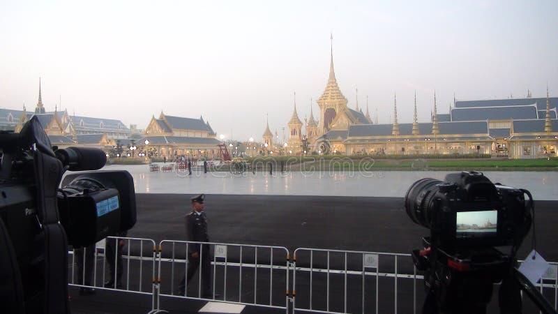 The Royal Cremation Ceremony King Rama IX Thailand. The Royal Cremation Ceremony for His Majesty King Bhumibol Adulyadej Rama IX Thailand. Place: Sanam Luang stock photography
