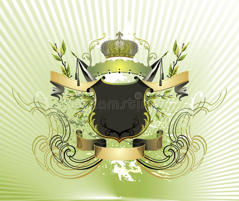 Royal crest illustration stock image