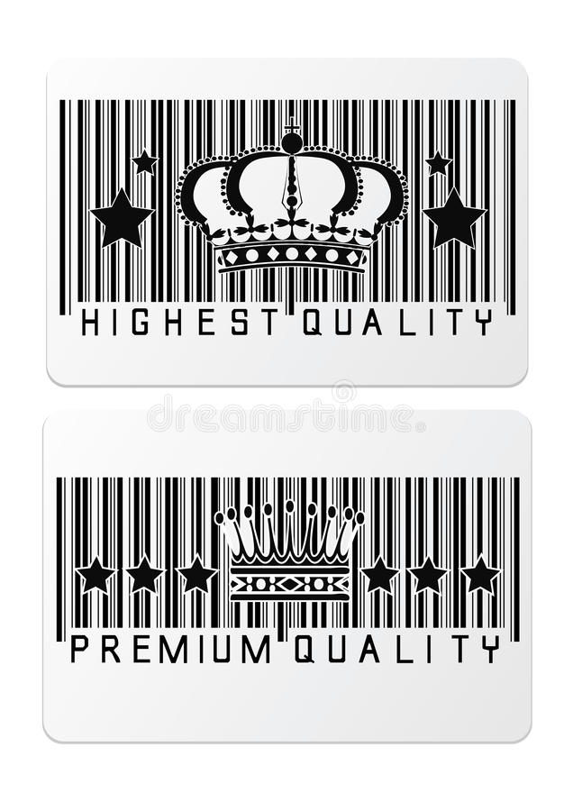 Download Royal Crown Barcode Shopping  Labels Stock Vector - Image: 34706908