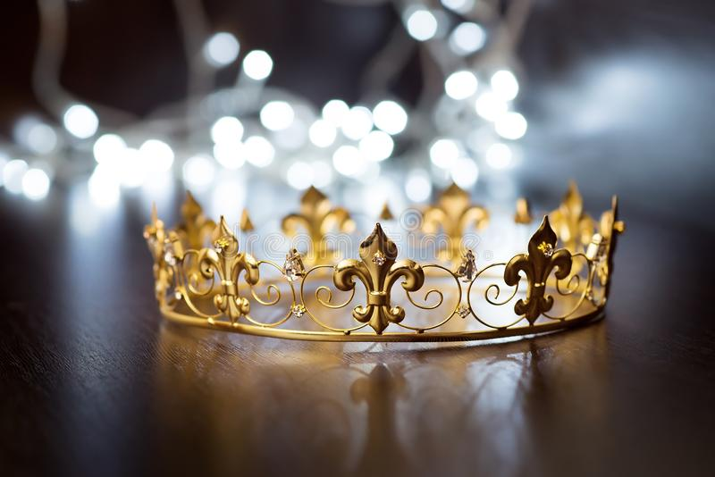 Royal crown, diadem. Wealth symbol of power and success. Christmas, New Year royalty free stock photo