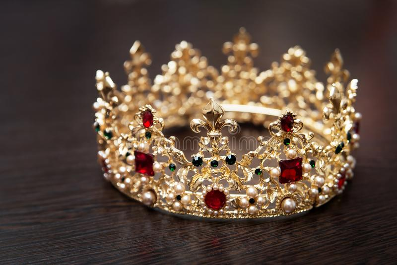 Royal crown, diadem. Wealth symbol of power and success. Christmas, New Year royalty free stock photos