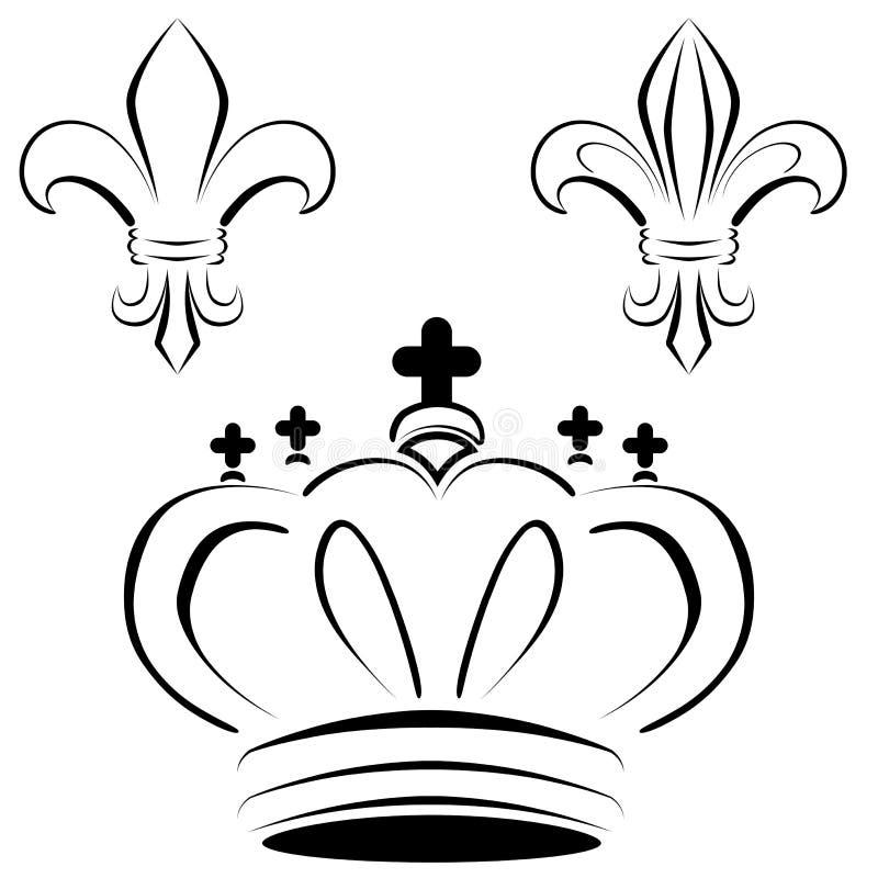 Download Royal Crown Fleur Art stock vector. Image of calligraphy - 19401106