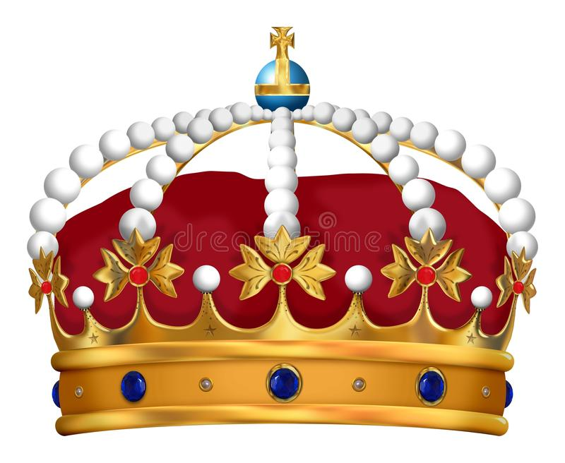 Royal Crown royalty free illustration
