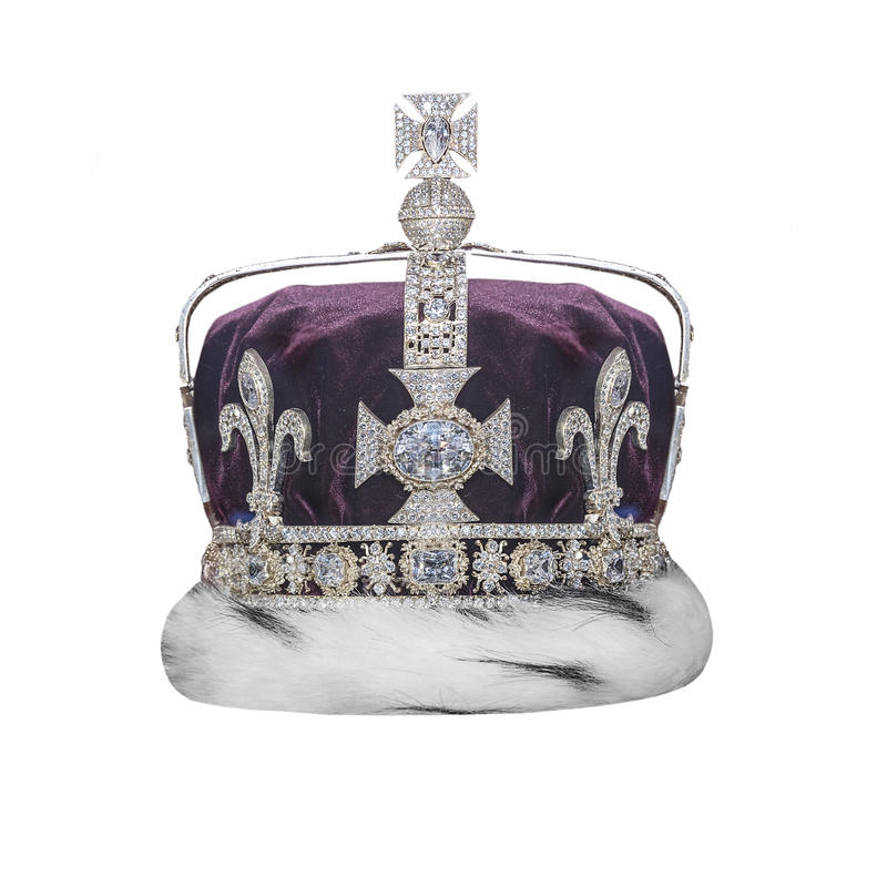Royal crown with jewels. royalty free stock photos