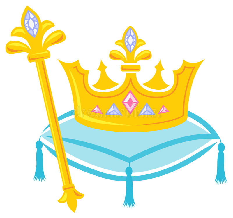 Royal Crown and Scepter/eps royalty free illustration