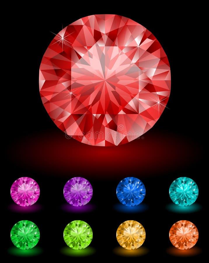 Royal diamonds stock illustration