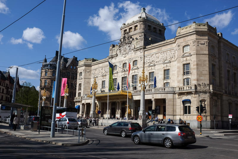 The Royal Dramatic Theatre in Stockholm stock image