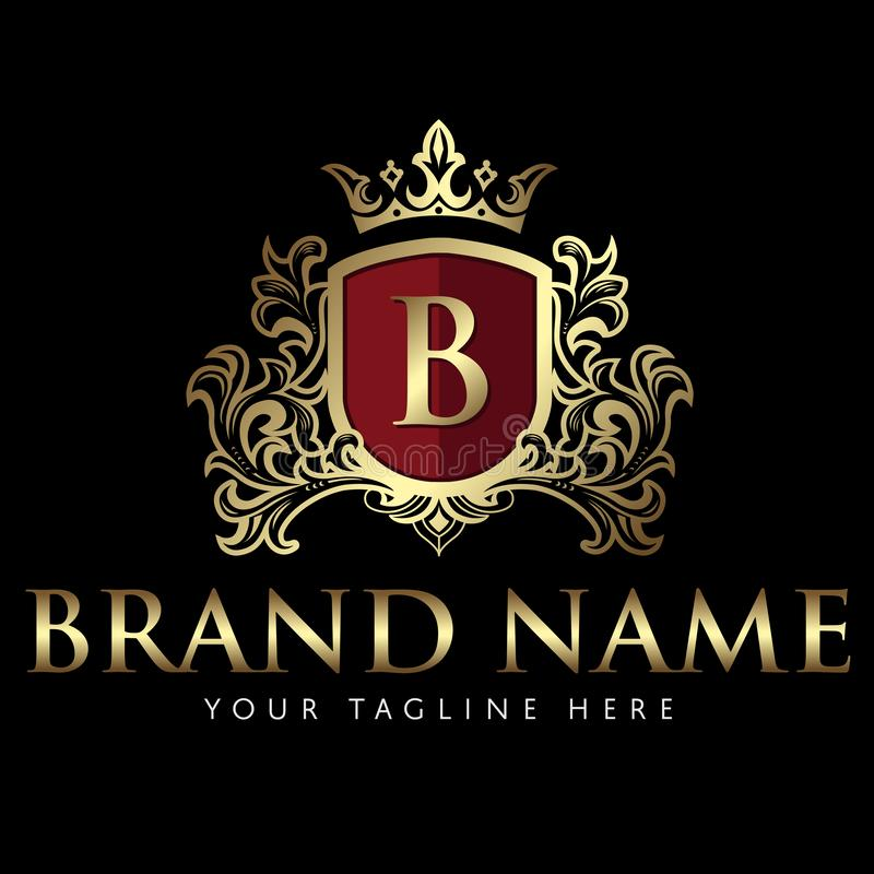 Elegant Royal Logo Stock Vector. Illustration Of