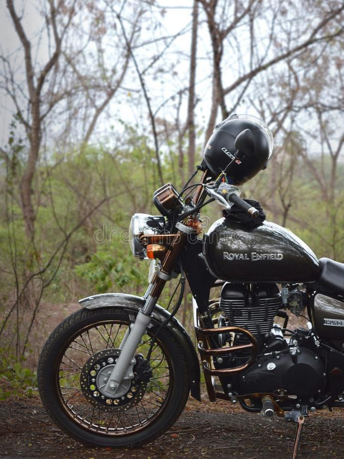 The Royal Enfield! stock photo