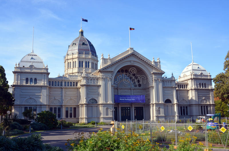 Royal Exhibition Building and Carlton Gardens a World heritage S. Melbourne, Australia - May 15,2014: The historic Royal Exhibition Building and Carlton Gardens royalty free stock photo
