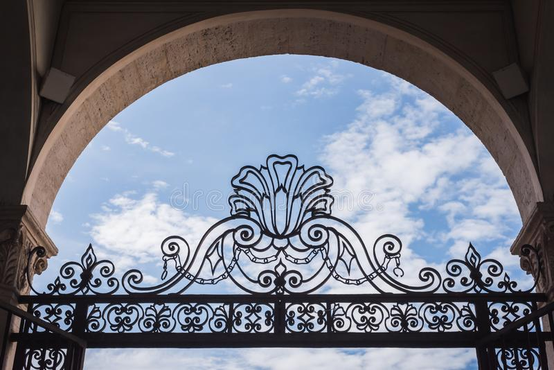Royal exit to enjoy the good weather. With this beautiful blue sky royalty free stock images