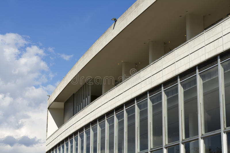 Royal Festival Hall on London's South Bank. Detail royalty free stock photography