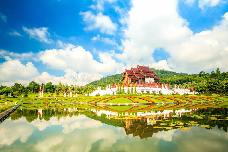 The royal flora,Ho Loung in Ratchaphruek Park Chiang Mai , T royalty free stock photography