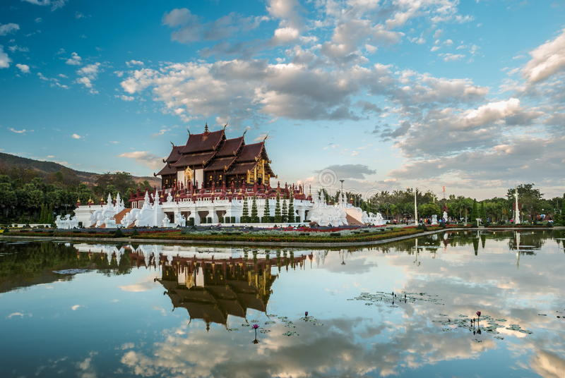 Royal Flora temple Chiang Mai, Thailand stock photo