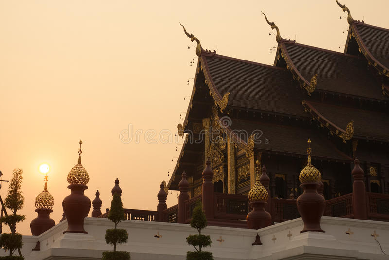 Royal Flora temple (ratchaphreuk)in Chiang Mai,Thailand royalty free stock photos