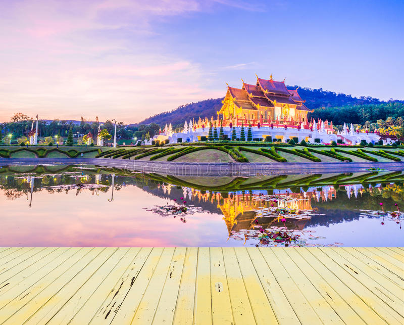 Royal Flora temple (ratchaphreuk)in Chiang Mai,Thailand royalty free stock photography