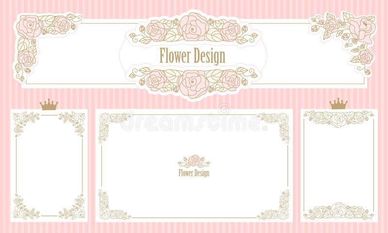 Royal Floral Frame Set Of Flower Borders Vintage Wedding