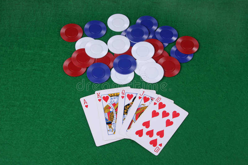 A royal flush stock photo