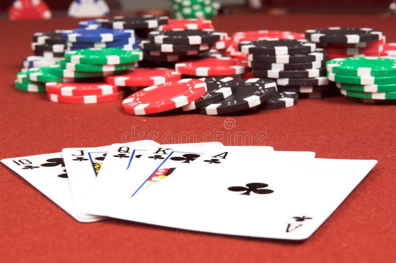 Royal Flush Clubs royalty free stock images