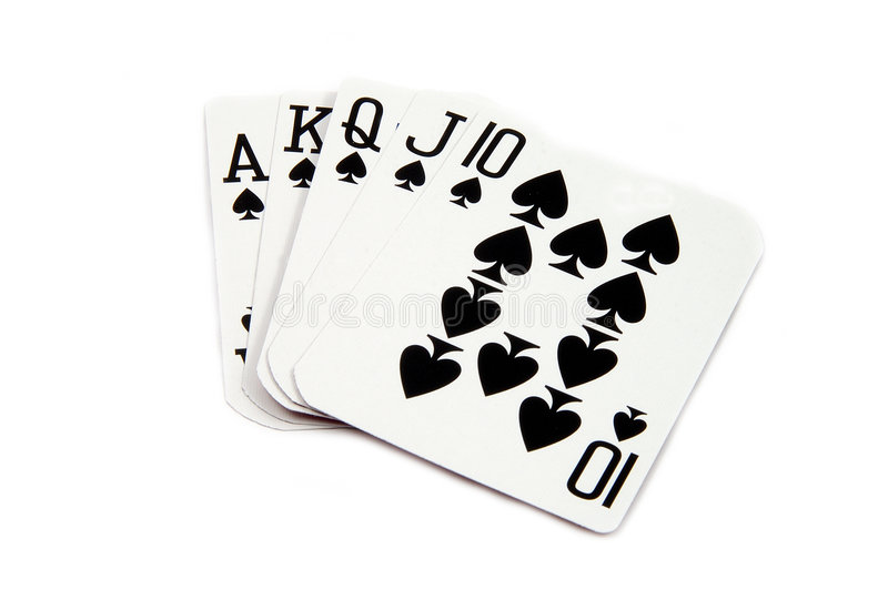 Download Royal Flush Hearts stock image. Image of straight, wager - 166175