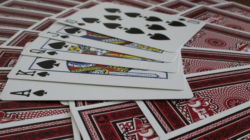 Royal Flush royalty free stock photos
