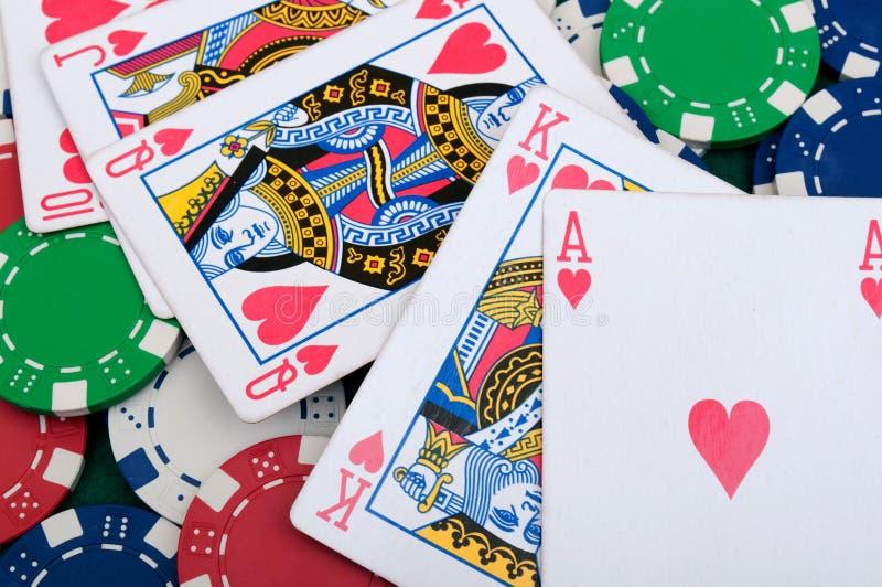 Royal Flush In Poker Stock Image