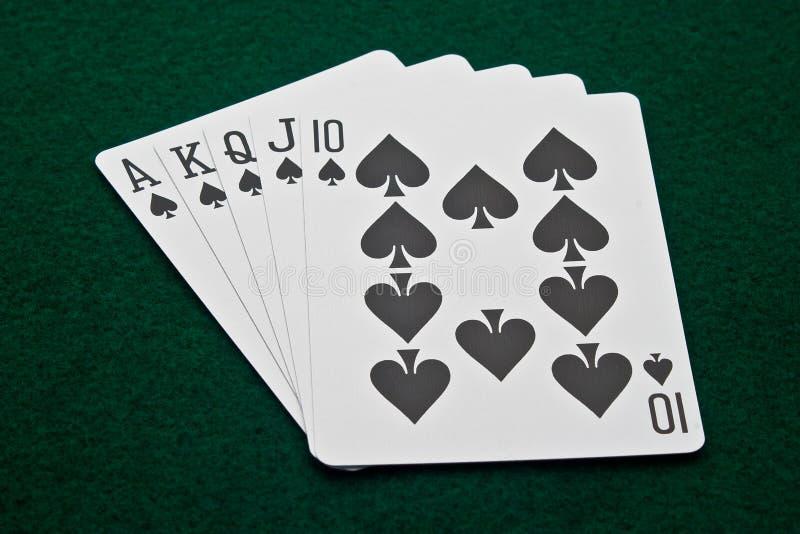 Royal Flush of Spades royalty free stock images