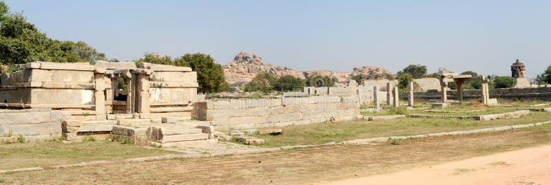 Royal fort of Zenana Enclosure at Hampi stock photos