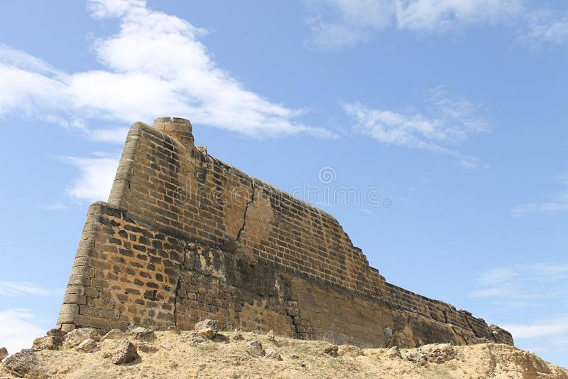 The Royal Fortress of Santiago de Arroyo de Araya. In the peninsula of Sucre. Venezuela stock photography