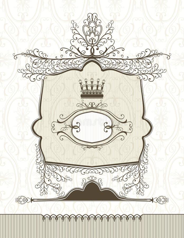 Royal frame. royalty free illustration