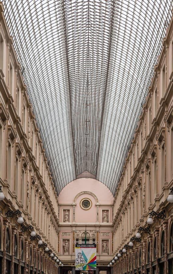 Royal Galeries of Saint Hubert Brussels Belgium royalty free stock images