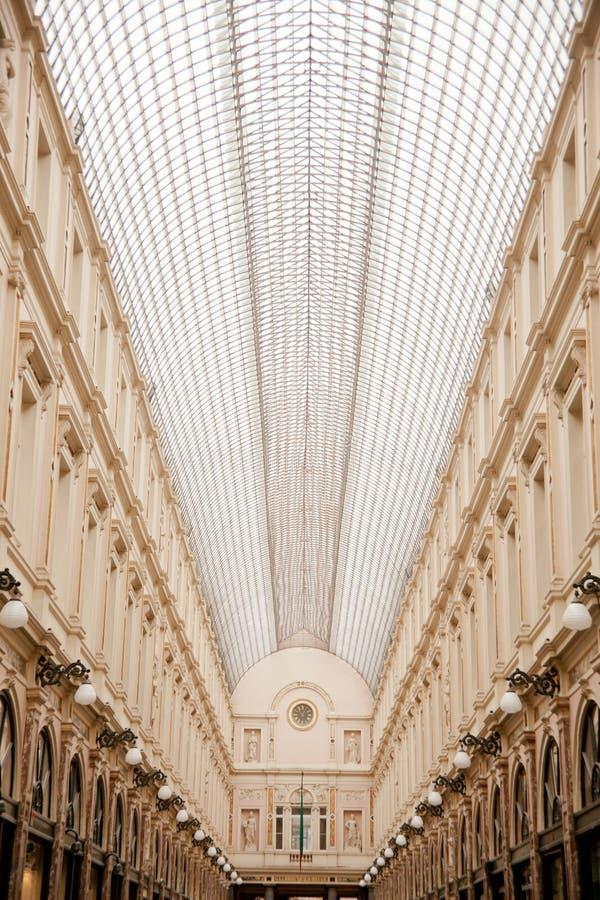 Royal Galleries of Saint Hubert in Bruxelles. Royal Galleries of Saint Hubert, shopping area in Bruxelles, Belgium royalty free stock photos
