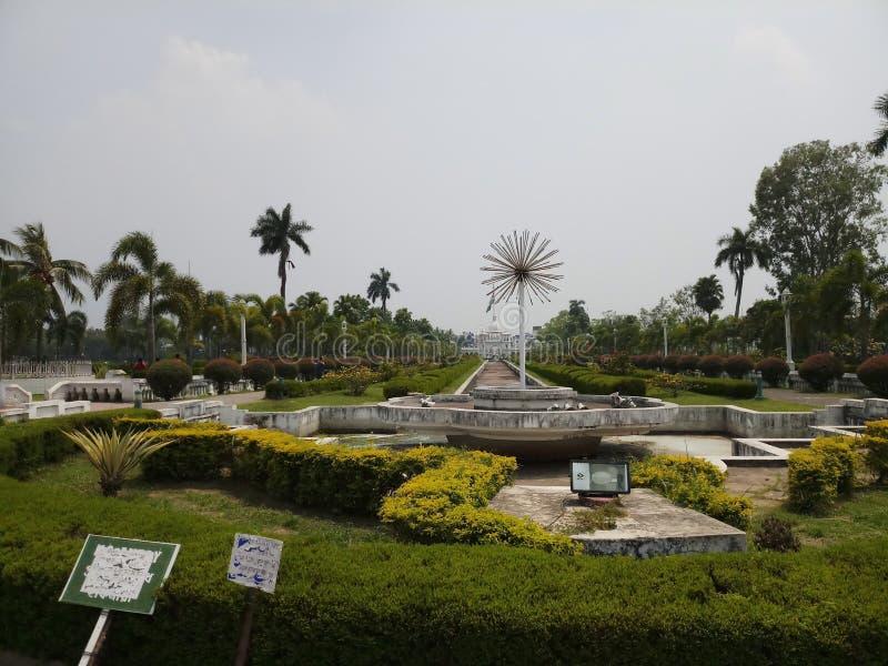 Royal garden of Tripura. Tourism, waterfountain stock photos