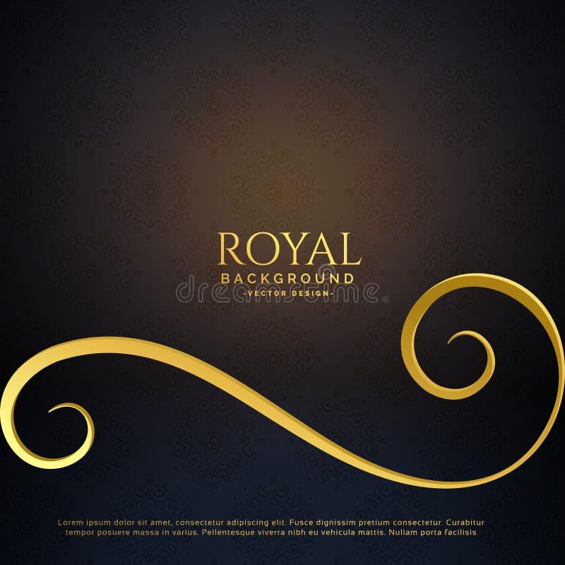 Royal golden floral vector background royalty free illustration