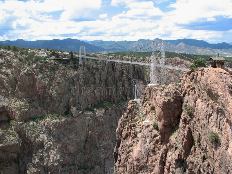 Royal Gorge bridge. Scenic view of Royal Gorge bridge over Arkansas river, Colorado, U.S.A stock photography