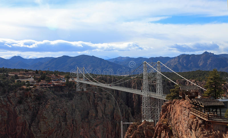 Royal Gorge bridge. Royal Gorge suspension bridge in Canon City, Colorado royalty free stock photos