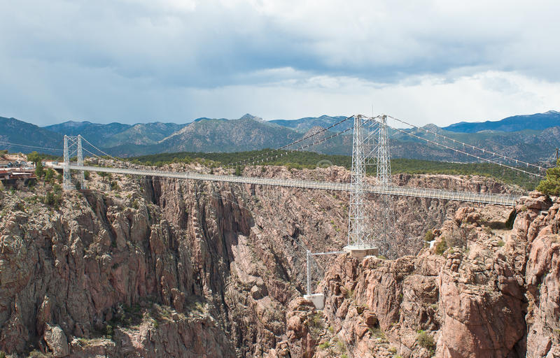 Royal Gorge Bridge. View of the Royal Gorge Bridge near Canyon City Colorado stock images